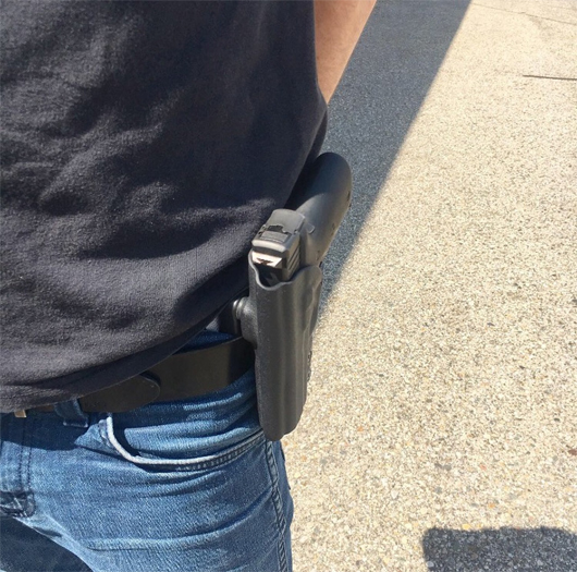 Conceal and carry Gun holster// Sccy//  Smith Wesson Shield//in the waist purple
